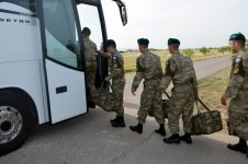 Group of Azerbaijani peacekeepers return from Afghanistan (PHOTO) - Gallery Thumbnail