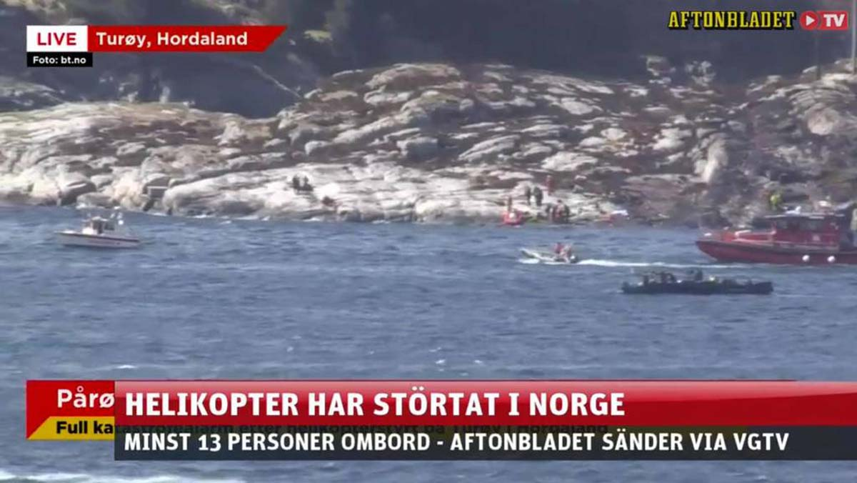 Norway helicopter crash: '11 killed' near Bergen - Gallery Image