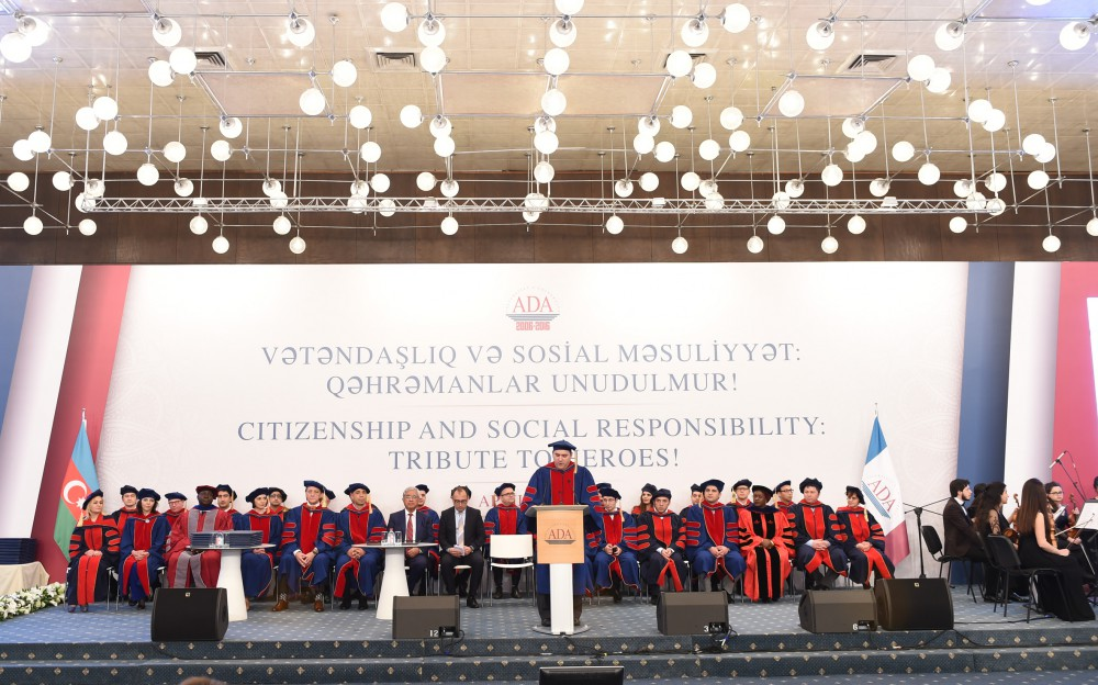 """Azerbaijan's First Lady Mehriban Aliyeva attends """"Citizenship and Social Responsibility: Tribute to Heroes"""" event at ADA University - Gallery Image"""