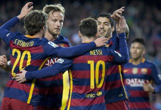 Messi shines as Barca secure their 8th league title in 11 years