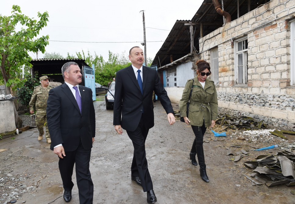 President Ilham Aliyev, his spouse visit Azerbaijan's Tartar, Barda and Aghdam districts - Gallery Image