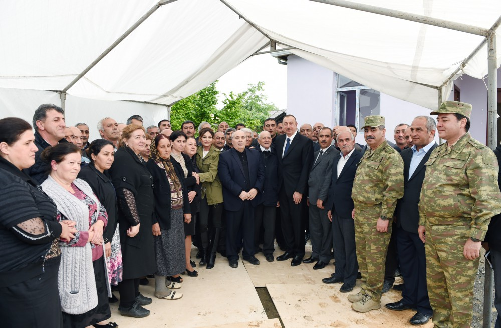 President Ilham Aliyev, his spouse visit Azerbaijan's Tartar, Barda and Aghdam districts