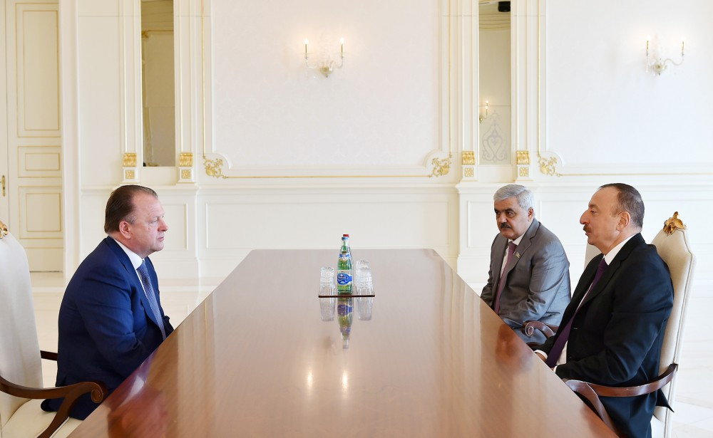 President Aliyev receives president of Int'l Judo Federation