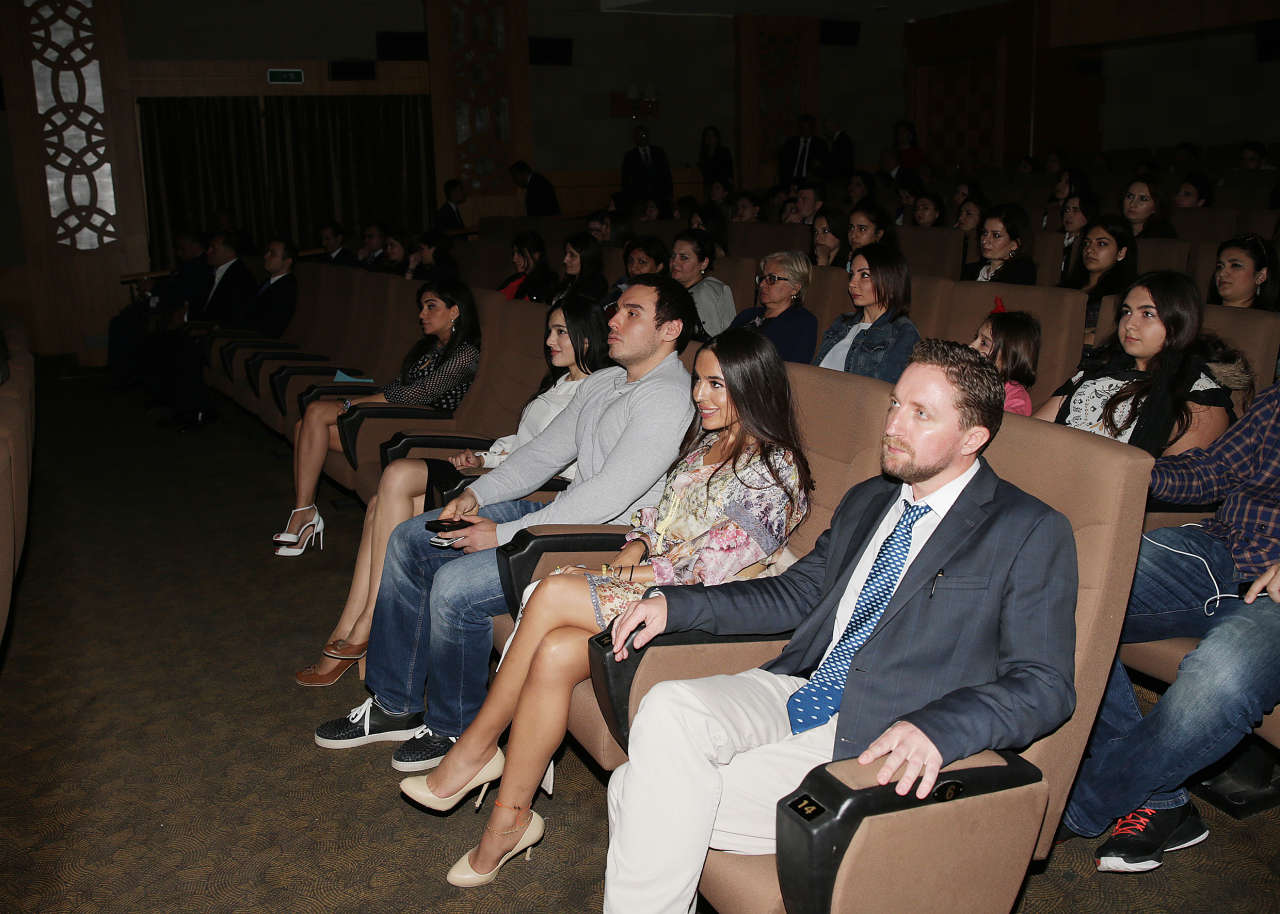 "Head of IDEA Public Union Leyla Aliyeva attends presentation of ""The End of the line"" documentary"