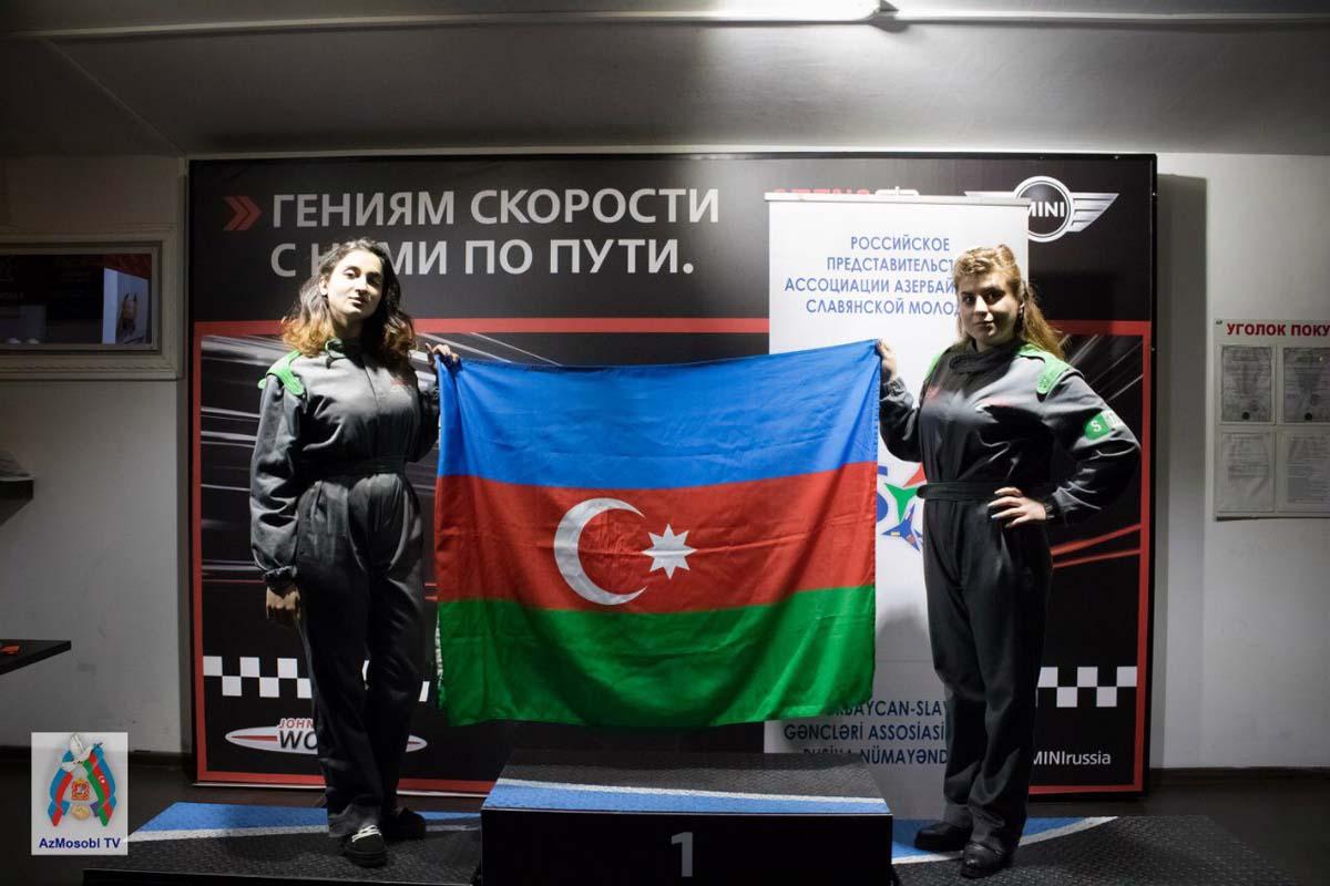 """Moskvada """"Formula-1"""" yarışlarının təbliğinə dəstək məqsədilə """"Moskvada Azərbaycanlı Gənclərin Kuboku"""" adlı yarış keçirilib (FOTO) - Gallery Image"""