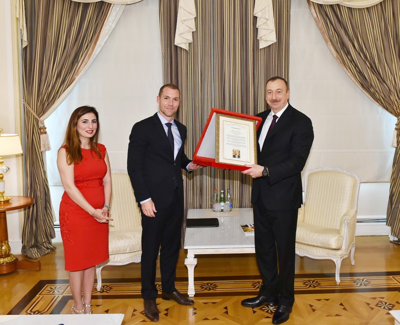 'The World`s Person of the Year 2015' award presented to Azerbaijan's president