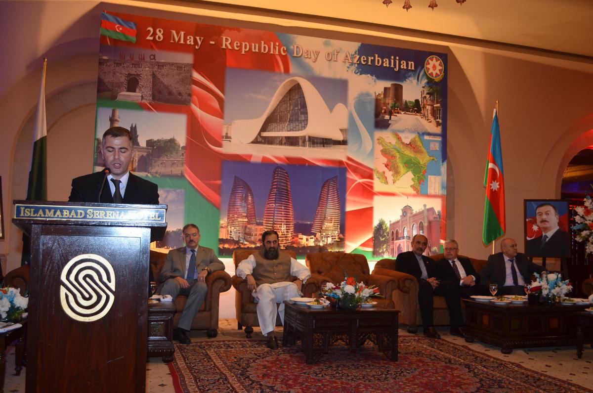 28 May - Respublika Günü münasibəti ilə İslamabadda təntənəli mərasim keçirilib (FOTO) - Gallery Image