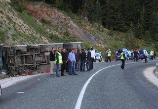 Çankırı'da yolcu otobüsü devrildi: 24 yaralı