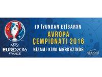 """Футбольные матчи Чемпионата Европы-2016 на большом экране Киноцентра """"Низами"""" - Gallery Thumbnail"""
