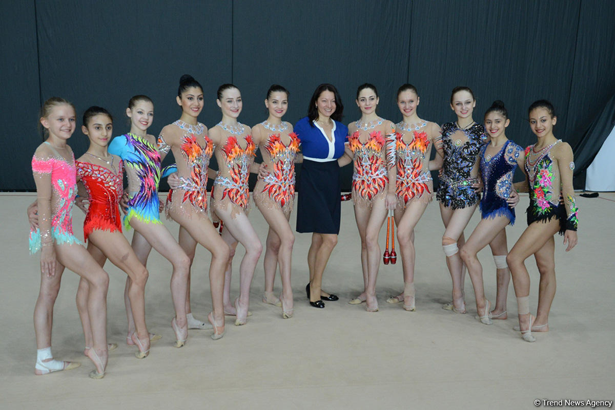 Azerbaijani gymnasts prepare for European championships in Israel (PHOTOS)