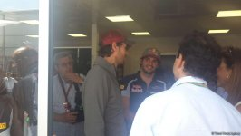 Enrique Iglesias visits pit boxes of teams participating in F1 Grand Prix of Europe in Baku - Gallery Thumbnail
