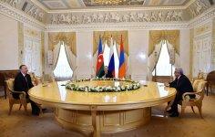 Azerbaijani, Russian, Armenian presidents hold joint meeting - Gallery Thumbnail