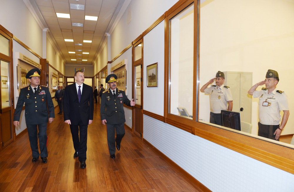 Prezident İlham Əliyev Silahlı Qüvvələrin Baş Qərargahının yeni inzibati binasının açılışında iştirak edib (FOTO) - Gallery Image