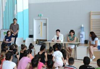 Bakıda gənc gimnastların Olimpiya çempionları ilə görüşü olub (FOTO)