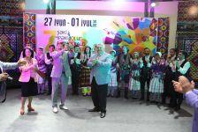 """İstanbul Şəhər Bələdiyyəsinin Anadolu Türk Xalq Mahnı və Rəqs Ansamblı """"İpək yolu"""" VII Beynəlxalq musiqi festivalında (FOTO) - Gallery Thumbnail"""