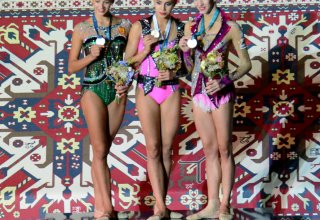 FIG World Cup in Baku: Russia's Margarita Mamun wins gold in exercises with ball