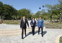 """President Aliyev attends opening of """"Gabala"""" Park and Boulevard Complex after reconstruction (PHOTO) - Gallery Thumbnail"""