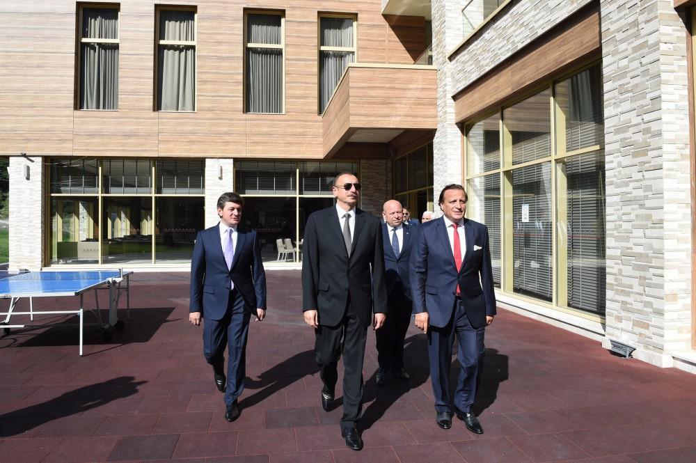 """Prezident İlham Əliyev Qəbələdə """"Qafqaz Tufandağ Mountain Resort"""" otelinin açılışında iştirak edib (FOTO) - Gallery Image"""