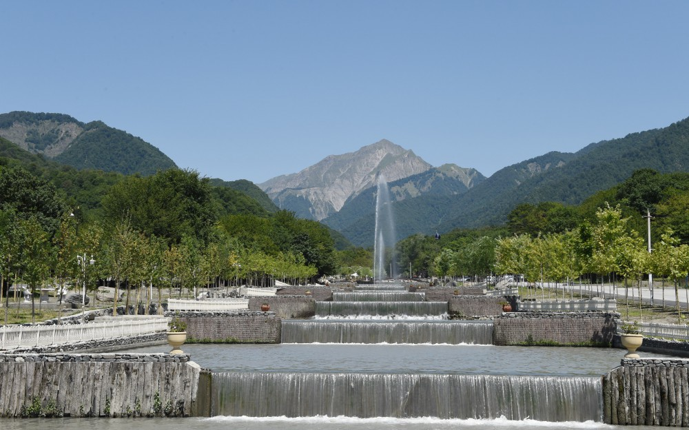 """President Aliyev attends opening of """"Gabala"""" Park and Boulevard Complex after reconstruction (PHOTO) - Gallery Image"""