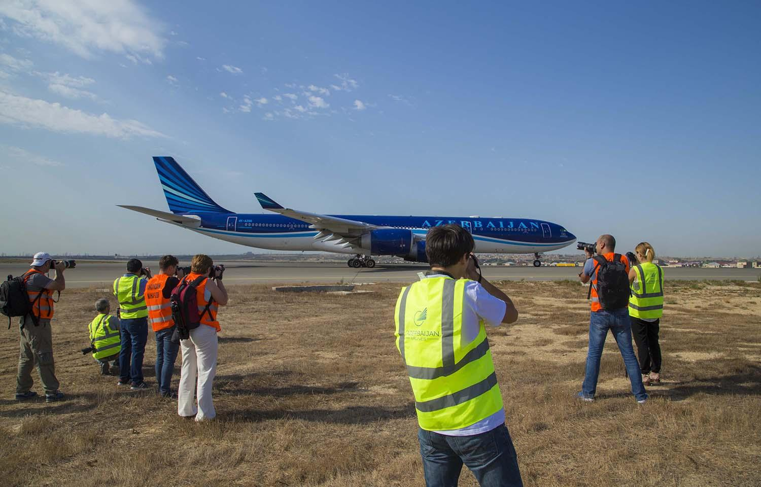 First spotting held at Heydar Aliyev International Airport (PHOTO/VIDEO) - Gallery Image