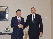 President Ilham Aliyev, his spouse met with President of World Chess Federation (PHOTO) - Gallery Thumbnail