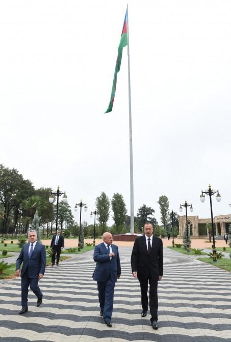 Ilham Aliyev opens Flag Square in Masalli (PHOTO) - Gallery Image