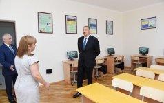 Президент  Ильхам Алиев ознакомился с условиями, созданными в новом учебном корпусе школы № 245 в Баку (ФОТО) - Gallery Thumbnail