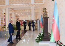 Ilham Aliyev views Flag Square and Museum in Khachmaz - Gallery Thumbnail