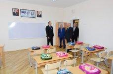 Президент Ильхам Алиев ознакомился с условиями, созданными в школе номер 58 Баку (ФОТО) - Gallery Thumbnail