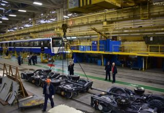 Russian plant begins manufacturing wheelsets for Baku Metro