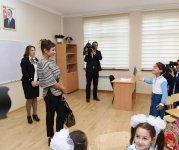 Azerbaijani first lady attends opening of school in Masazir (PHOTO) - Gallery Thumbnail