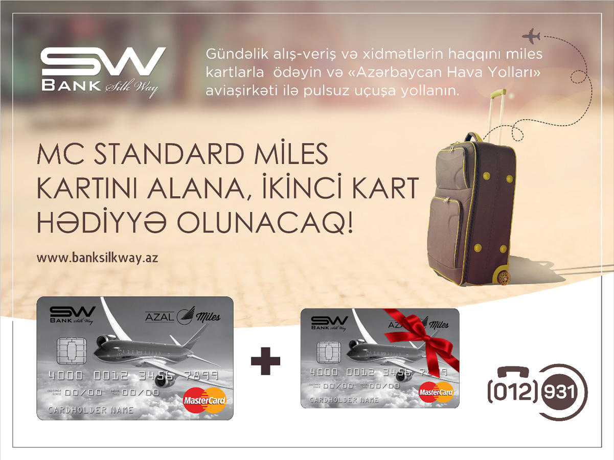 Bank Silk Way launches MasterCard Miles 1+1 campaign - Gallery Image