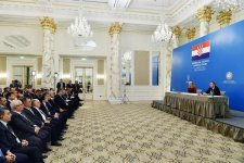 Azerbaijani, Croatian presidents attend business forum in Baku - Gallery Thumbnail