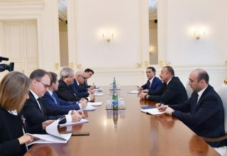 Ilham Aliyev receives Italy's foreign minister with delegation