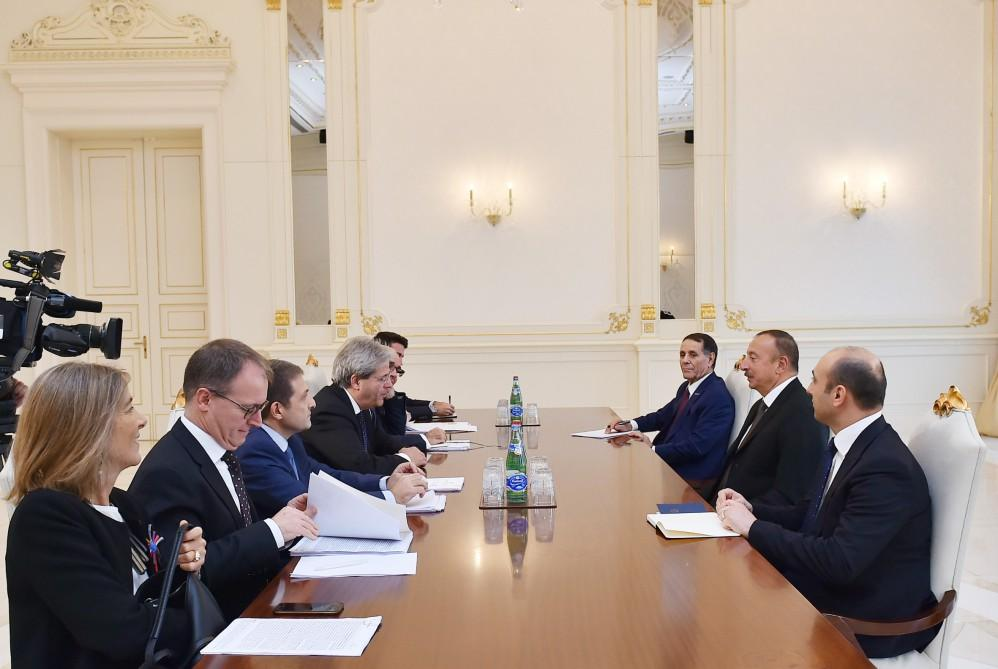 Ilham Aliyev receives Italy's foreign minister with delegation - Gallery Image