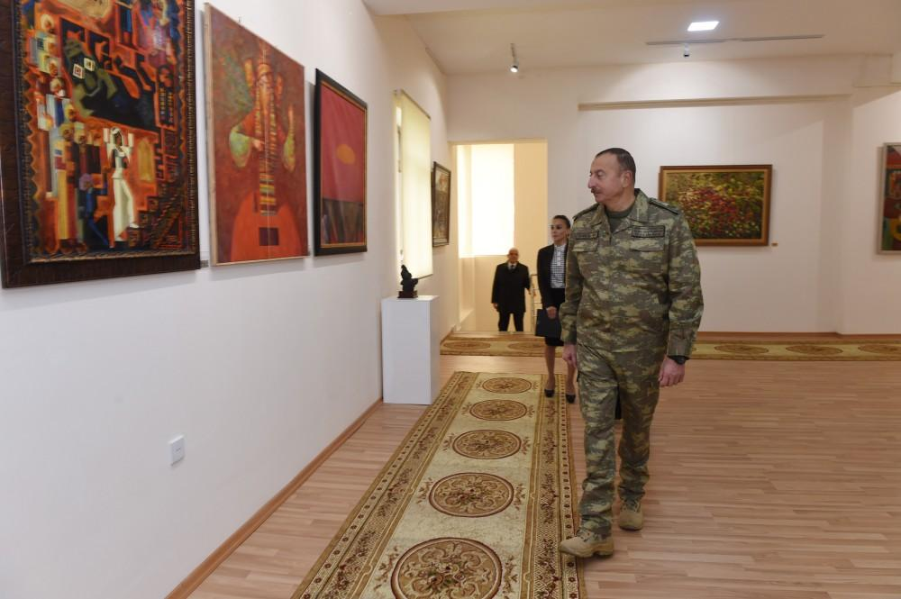 Ilham Aliyev attends opening of State Art Gallery in Horadiz (PHOTO)