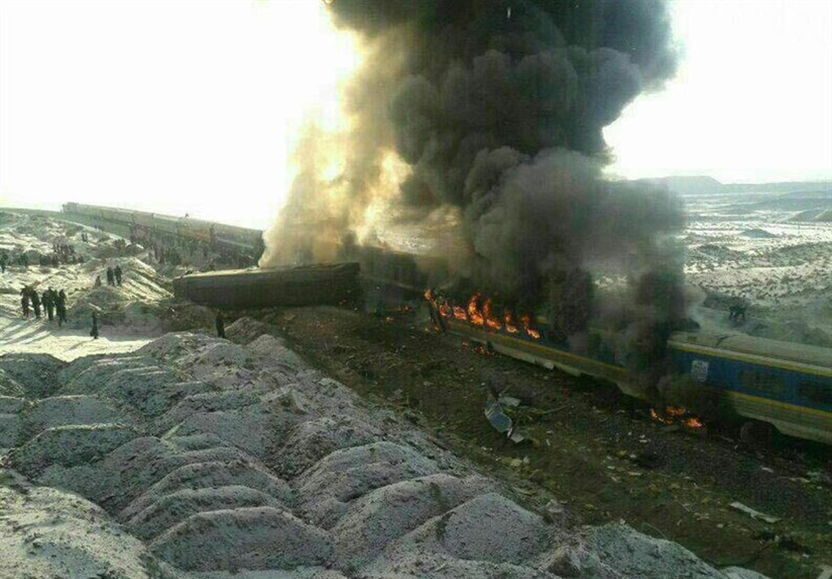 Passenger trains collide in Iran, at least 44 killed (PHOTO/VIDEO) (UPDATED) - Gallery Image