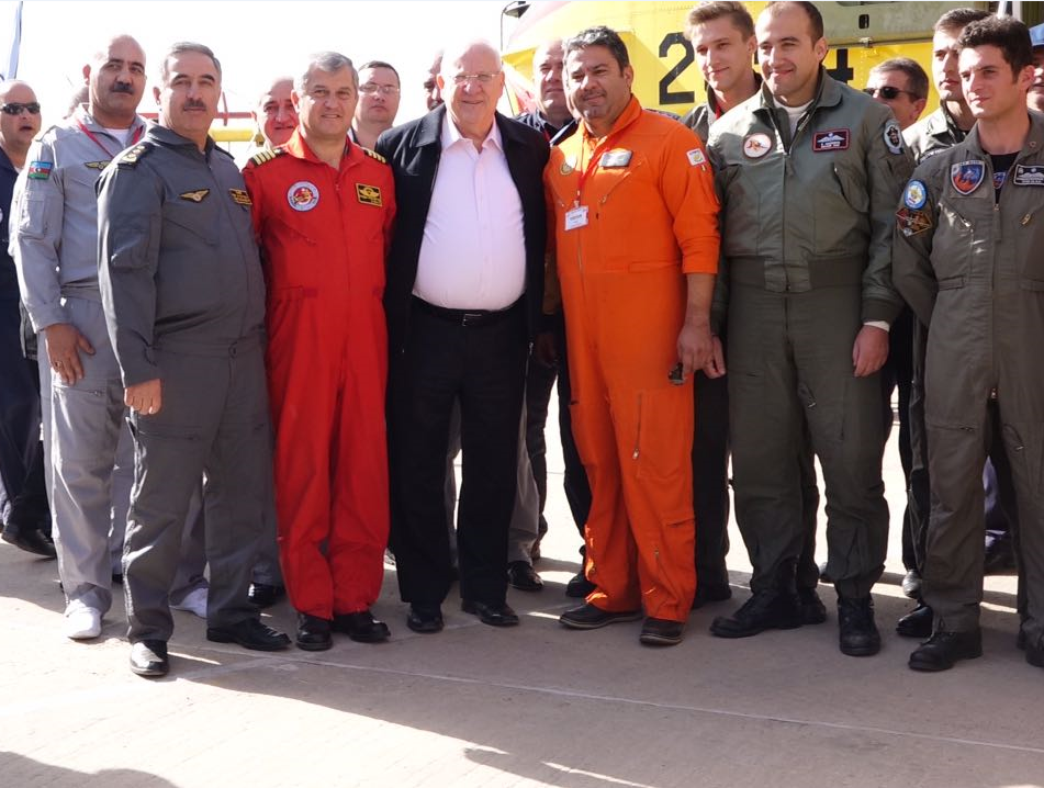 Israeli president thanks Azerbaijan for help in putting out wildfires (PHOTO)
