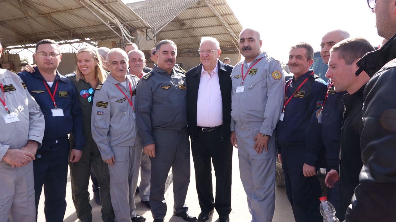 Israeli president thanks Azerbaijan for help in putting out wildfires (PHOTO) - Gallery Image