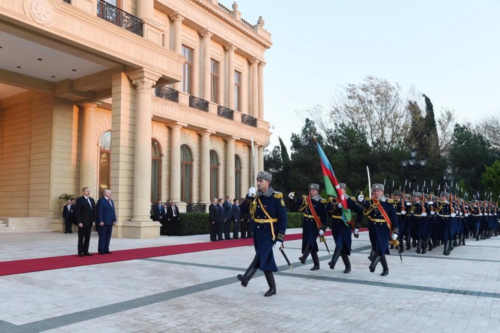 Belarus Prezidenti Aleksandr Lukaşenkonun rəsmi qarşılanma mərasimi olub (FOTO)