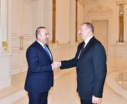 President Ilham Aliyev receives Turkish Foreign Minister - Gallery Thumbnail