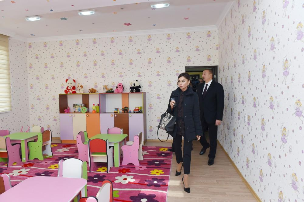 President Ilham Aliyev attends opening of orphanage-kindergarten in Tartar (PHOTO)