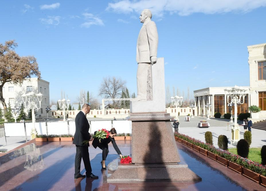 President Aliyev arrives in Aghdam district for visit (PHOTO) - Gallery Image