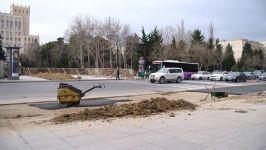 Paytaxtda yeni piyada keçidinin inşasına başlanılıb (FOTO/VİDEO) - Gallery Thumbnail