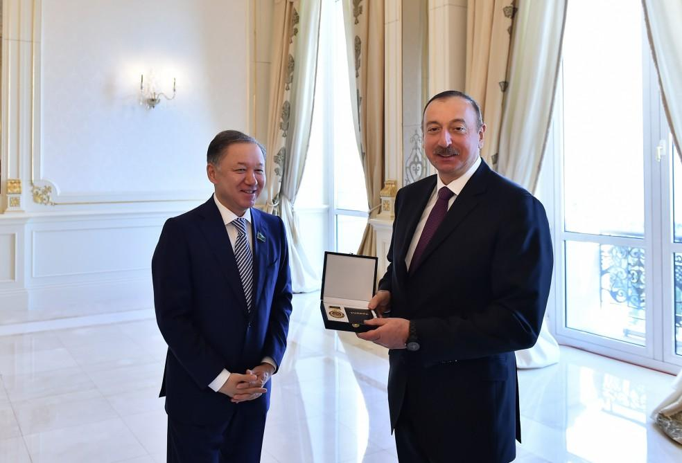 Azerbaycan Cumhurbaşkanı Türkiye, Kazakistan ve Kırgızistan Parlamento Başkanları'nı kabul etti - Gallery Image