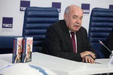 """Elmira Akhundova's book """"Ilham Aliyev. Portrait of a President against the Background of Changes"""" presented in Moscow  (PHOTO) - Gallery Thumbnail"""