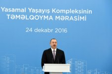 Ilham Aliyev, his spouse attend groundbreaking ceremony of 9-storey building in Yasamal (PHOTO) - Gallery Thumbnail
