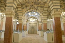 Ilham Aliyev, his spouse view renovated Baylar mosque (PHOTO) - Gallery Thumbnail