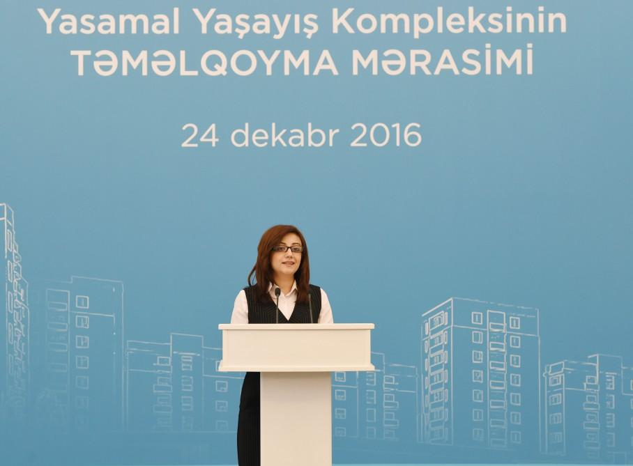 Ilham Aliyev, his spouse attend groundbreaking ceremony of 9-storey building in Yasamal (PHOTO) - Gallery Image