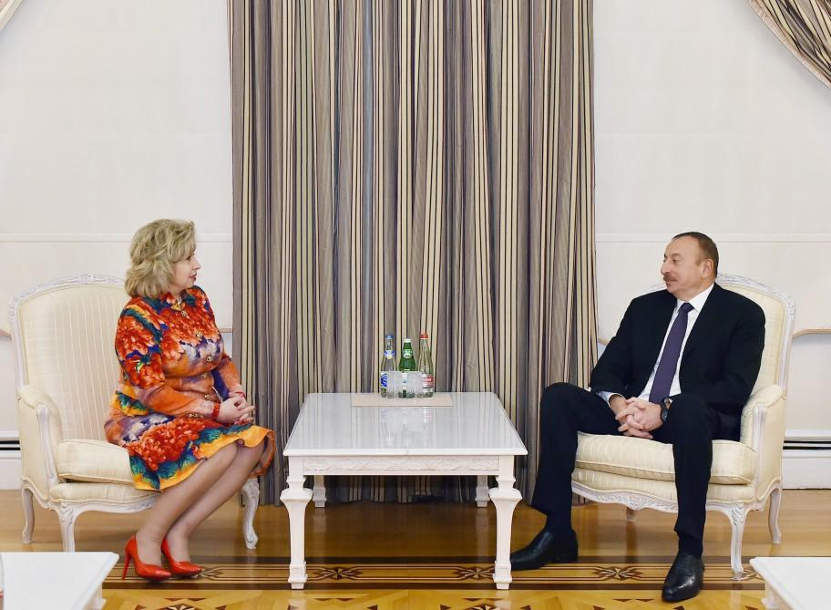 Ilham Aliyev receives Russian commissioner for human rights